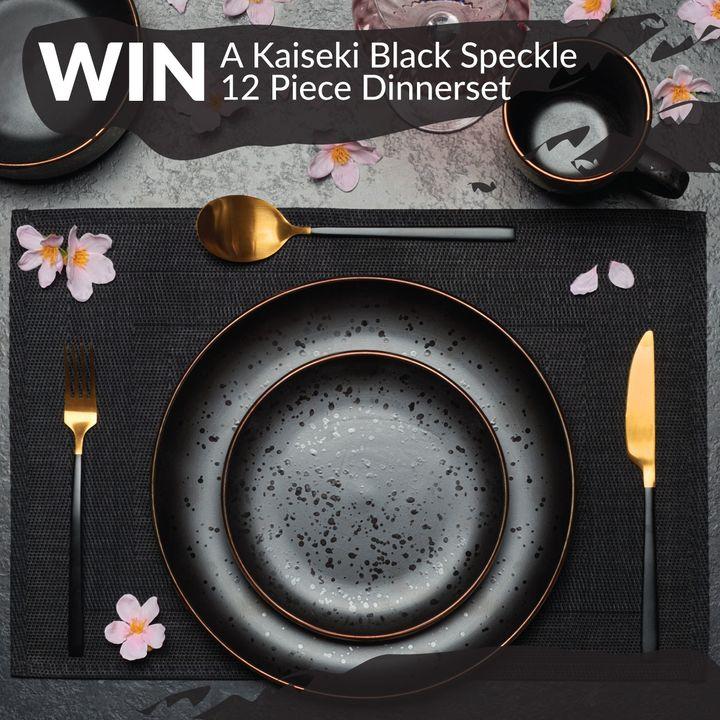 Win a Kaiseki Black Speckle 12 Piece Dinner Set