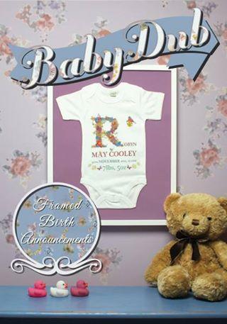Win a framed birth announcement onesie