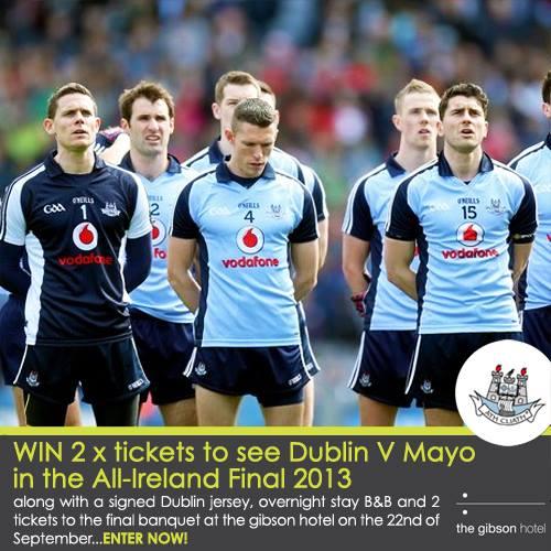 Win 2 tickets to watch Dublin V Mayo at All-Ireland Final