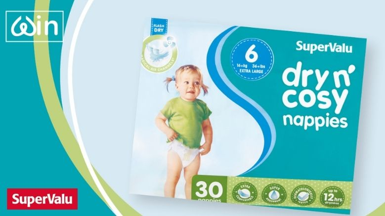 Win 3 Month's Supply Of SuperValu Dry N' Cosy Nappies Worth €120