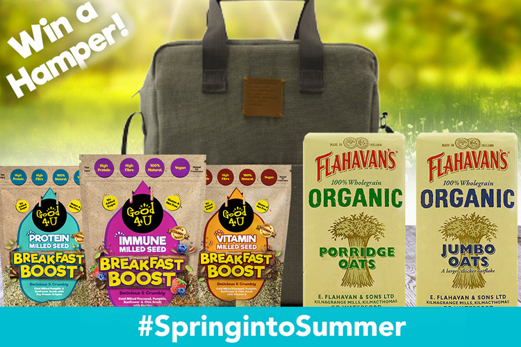 Win a hamper of Good4U Breakfast Boost & Flahavan's Organic Oats