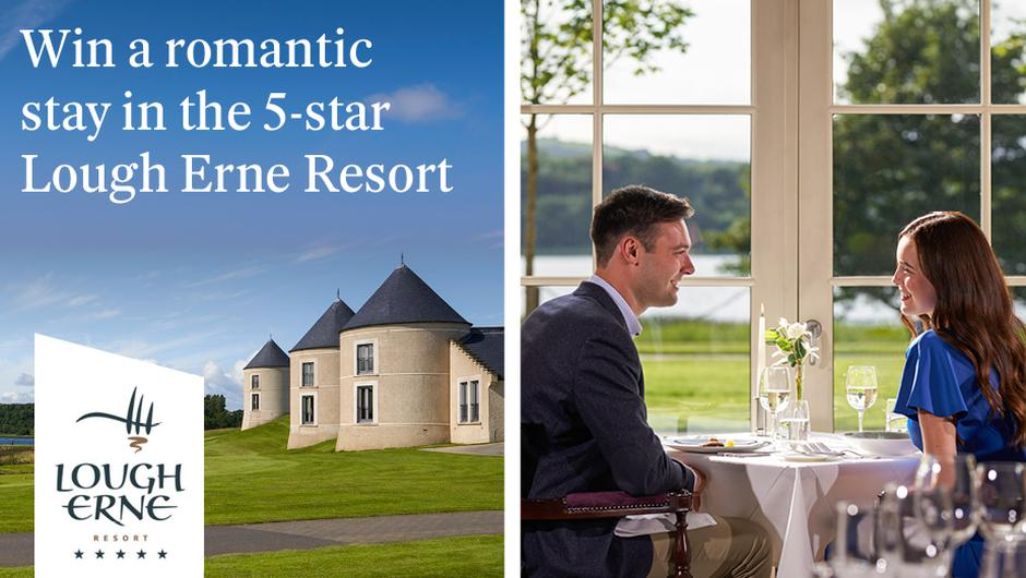 Win a romantic overnight stay in the 5-star Lough Erne Resort