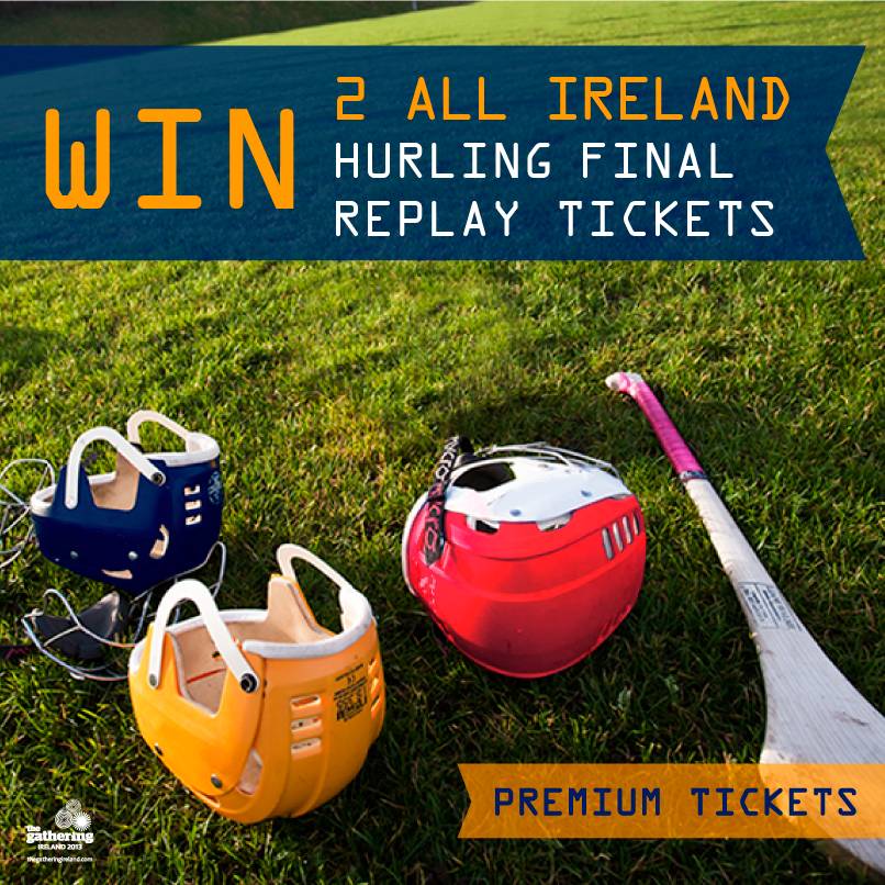 Win Two Premium All Ireland Hurling Replay Tickets
