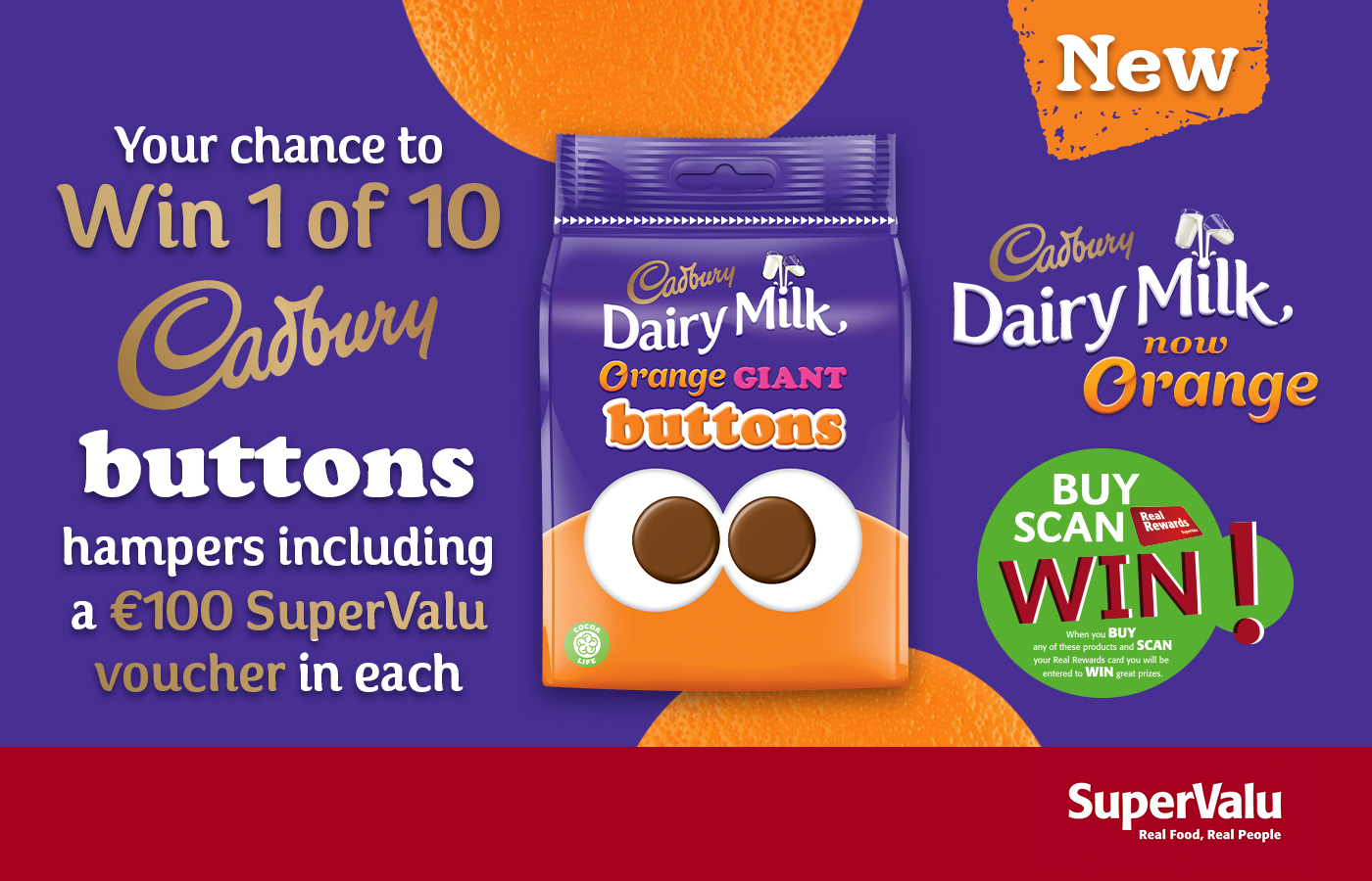 Win 1 of 10 Delicious Cadbury Buttons Hampers.