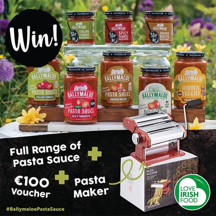 Win the ultimate pasta kit of Ballymaloe Pasta Sauce