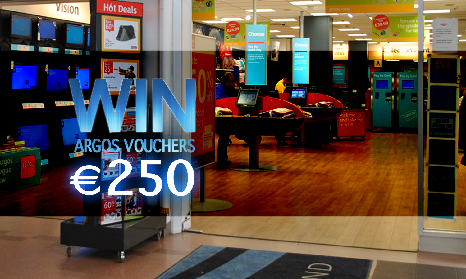 Win €250 Argos Shopping Vouchers