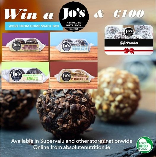 Win a Jo's Absolute Snack box and a €100 Voucher