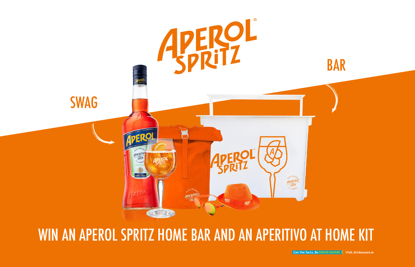 Win an Aperol Spritz home bar and an aperativo at home kit
