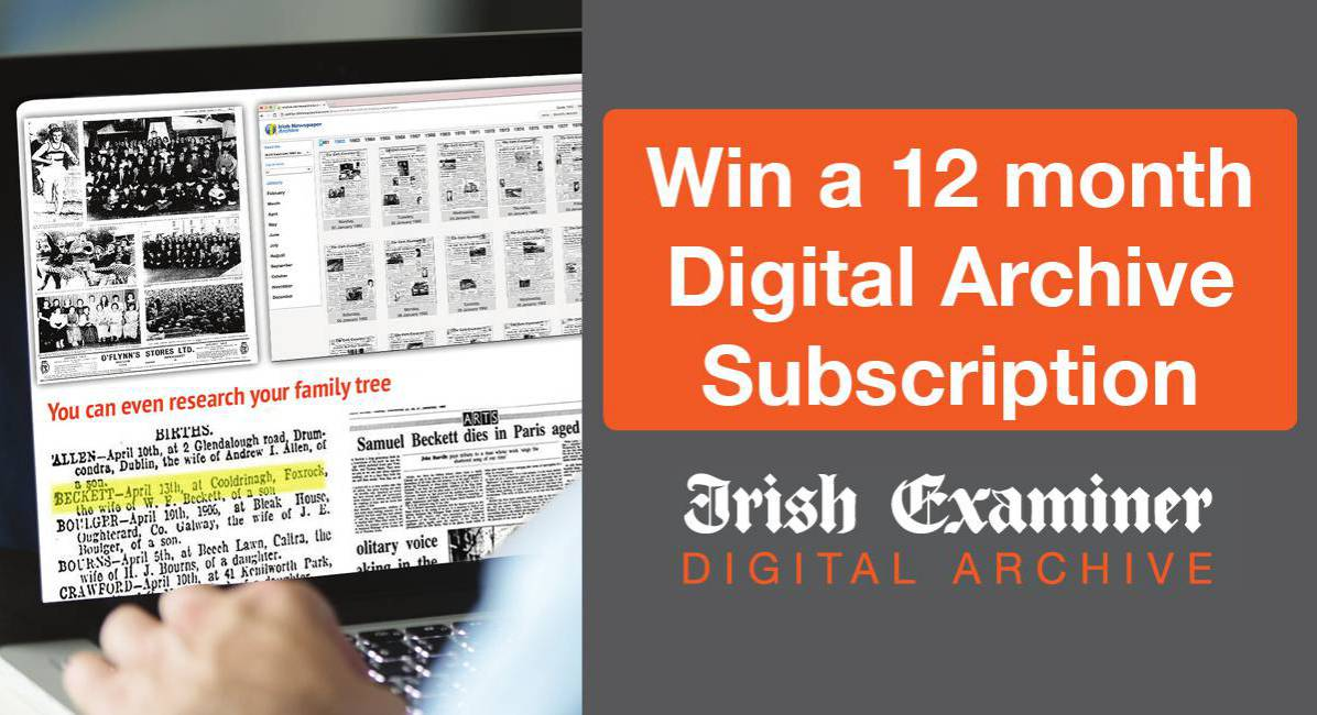 Win a 12 month Digital Archive Subscription
