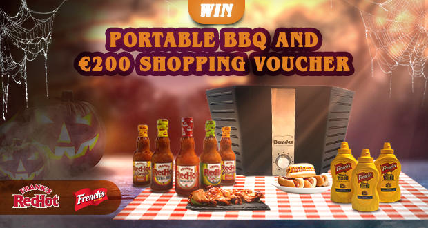 Win a portable BBQ worth €200 and €200 gift card
