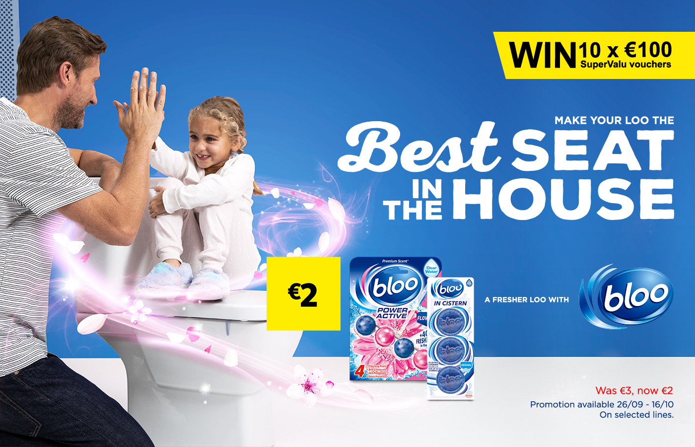 Win 1 of the 10 x €100 SuperValu shopping vouchers with Bloo
