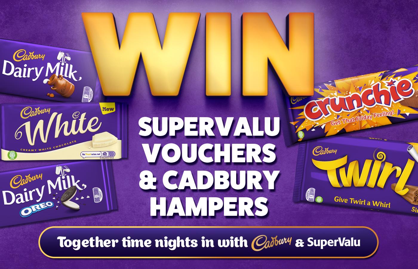 Win SuperValu vouchers and Cadbury Hampers
