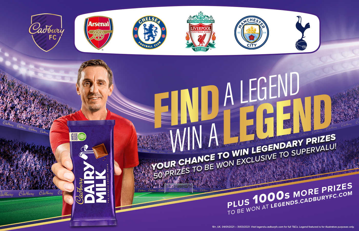 Win an Exclusive Premier League Legend Experience with Cadbury and SuperValu