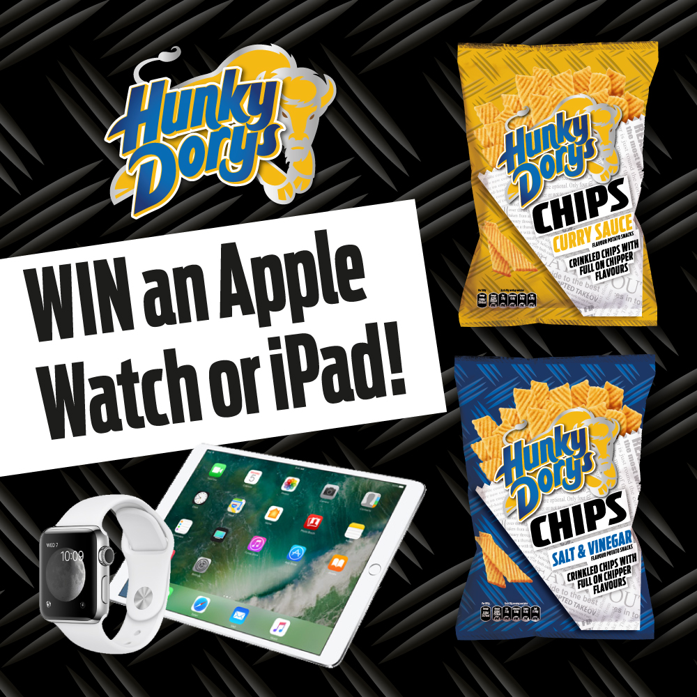 Hunky Dorys: Win an Apple watch or iPad with Hunky Dorys