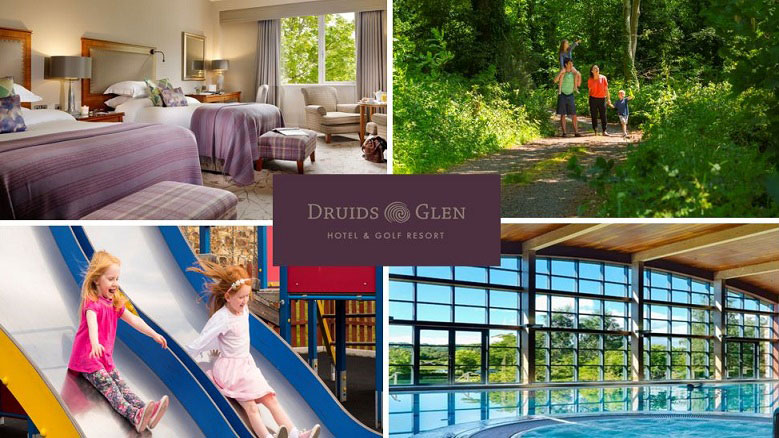 Win an overnight stay for two guests with dinner in Druids Glen Hotel & Golf Resort