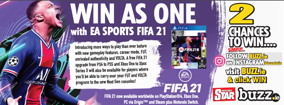 Win a PS4 copy of FIFA 21