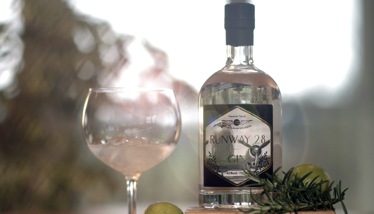 Win one of the first bottles of Runway28 Premium Irish Gin