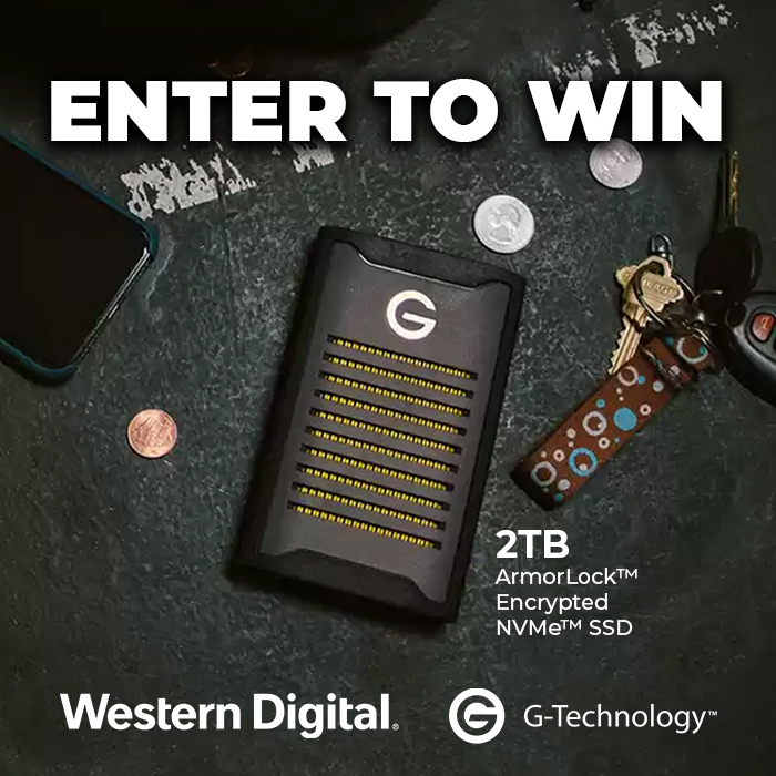 Win a G-Technology ArmorLock Portable SSD