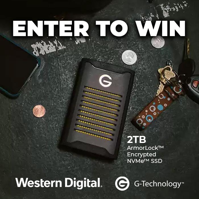Win a G-Technology ArmorLock Portable SSD
