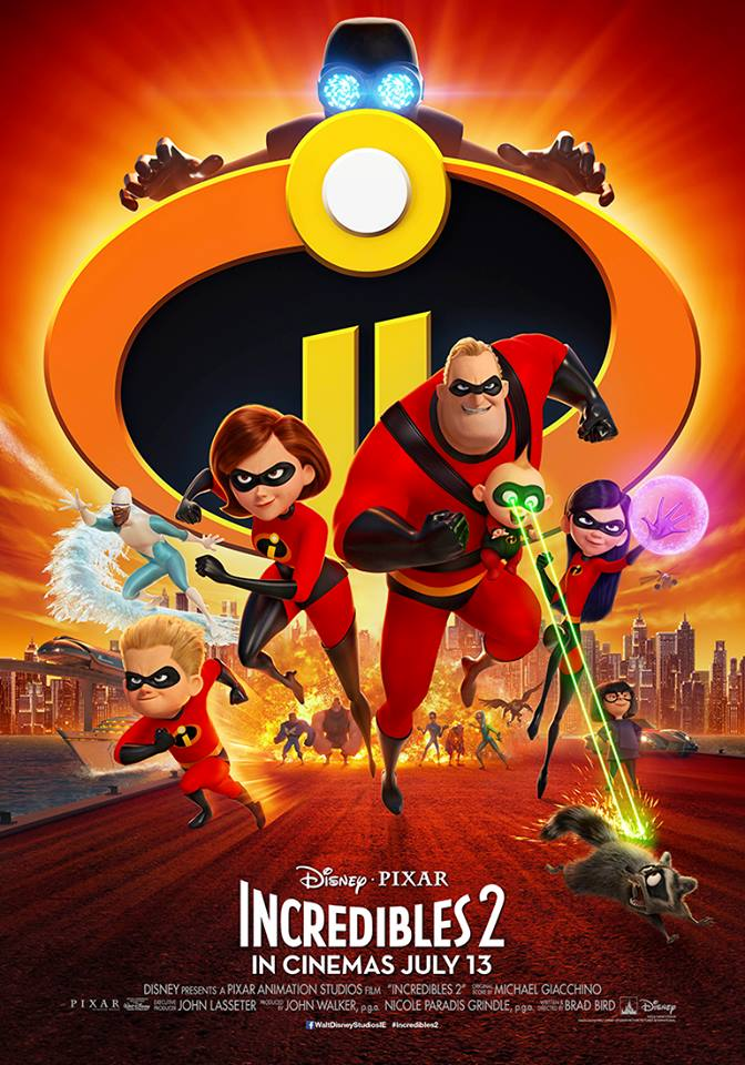 Win family passes to the Irish premiere of Incredibles 2