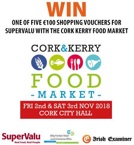 Win a one of five €100 shopping vouchers with Cork and Kerry Food Market