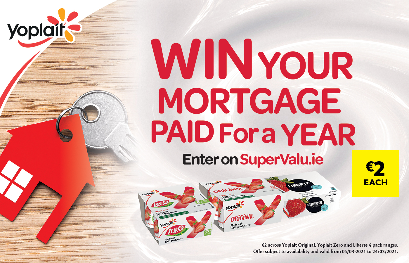 Win your Mortgage paid for an entire year with Yoplait