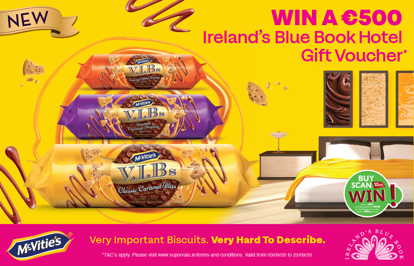 Win a €500 Bluebook Hotel Gift Voucher with McVitie's