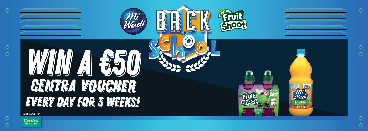 Win a €50 Centra voucher with MiWadi