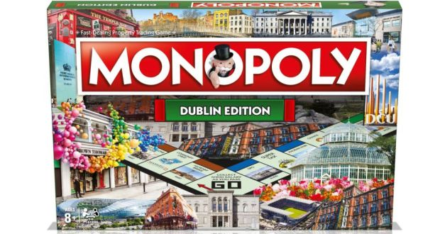 Win one of five editions of the New Dublin Monopoly Board