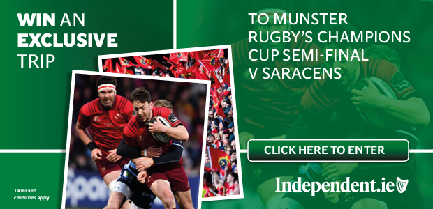 Win an exclusive trip to Munster Rugby's Champions Cup semi-final V Saracens