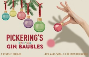 Win Pickerings Gin Filled Christmas Baubles From WineOnline.ie