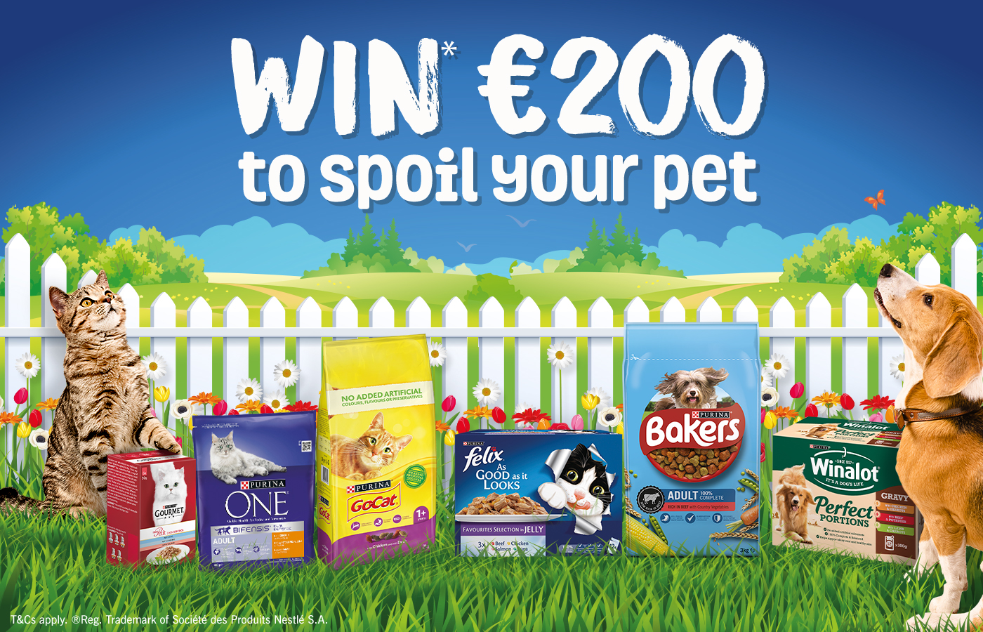 Win €200 to spoil your pet exclusively at Supervalu