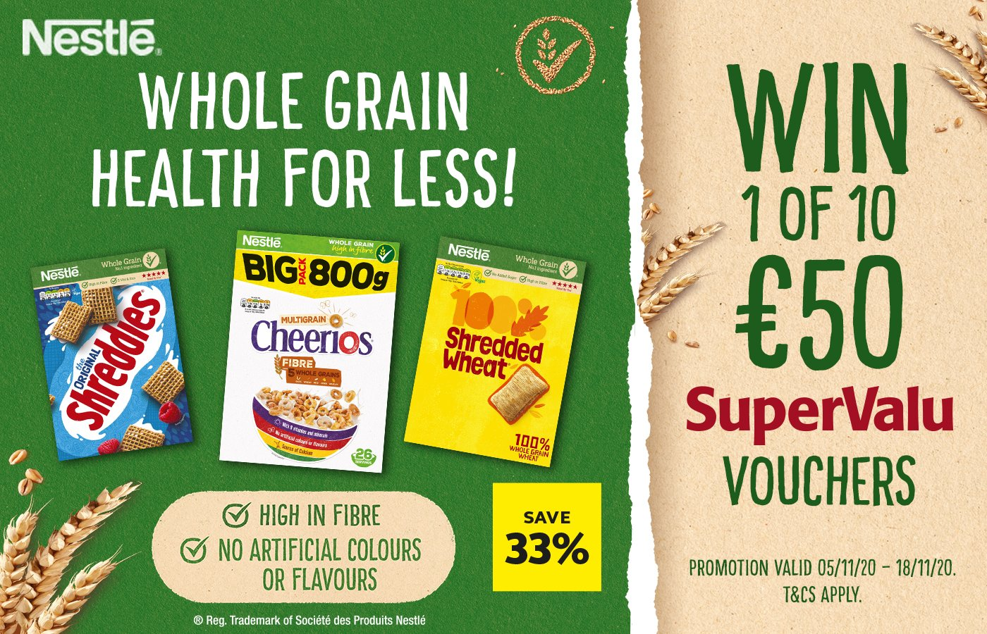 Win one of 10 SuperValu vouchers each worth €50