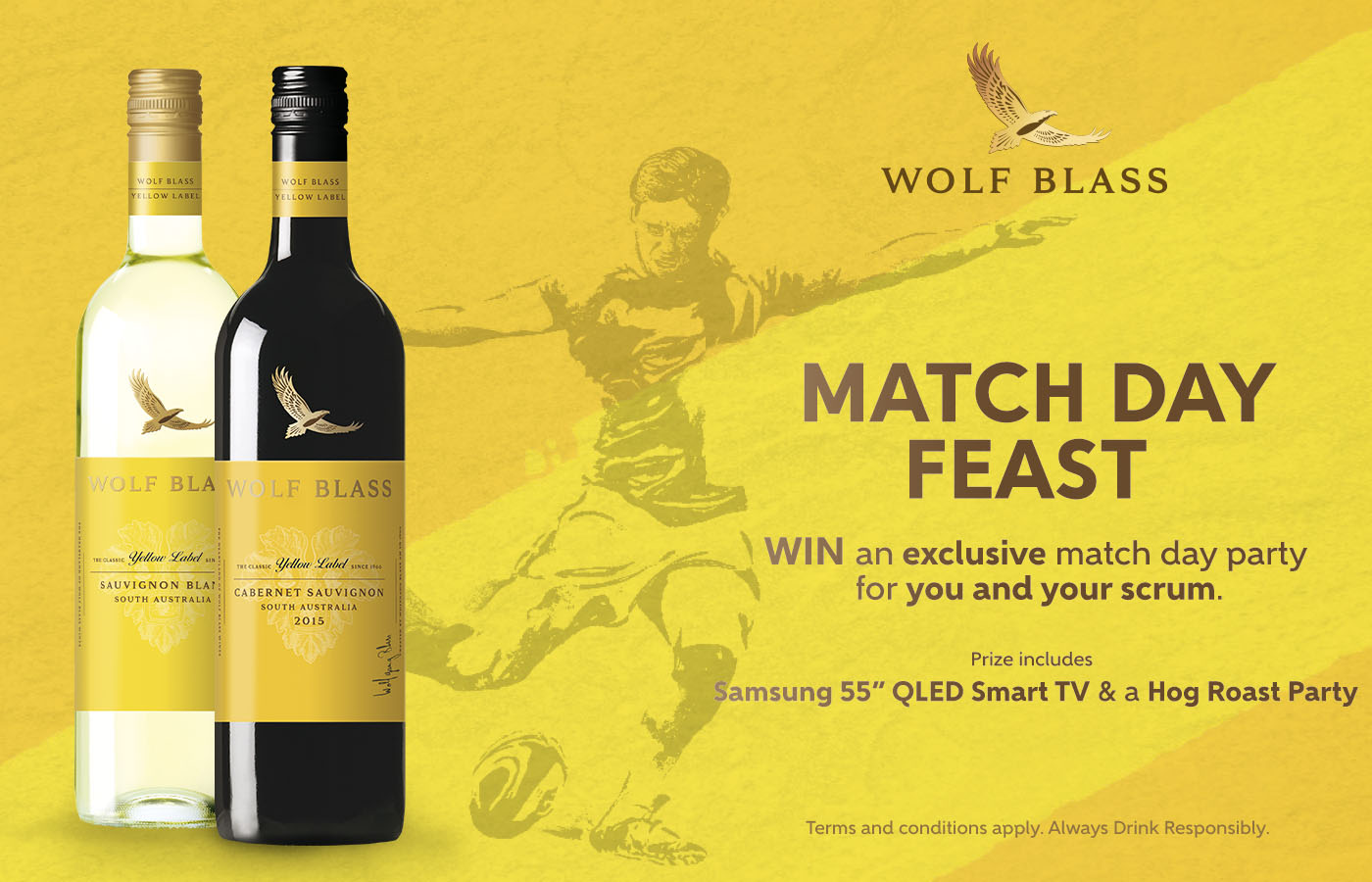 Win a Match Day Feast with Wolf Blass