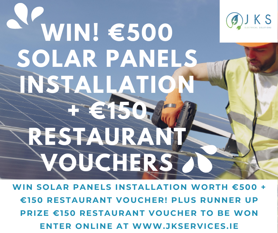 Win Solar Panels Installation worth €500 + €150 Restaurant Voucher