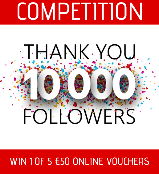Win 1 of 5 €50 vouchers to be used on Tadhg O'Connor